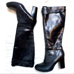 RARE Børn Gemini D39703 Black Full Grain Knee-High